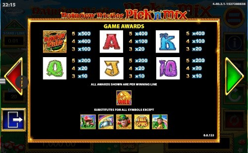 Rainbow Riches Pick N Mix UK slot game