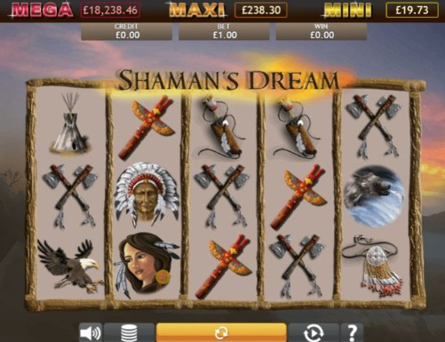 Shamans Dream Jackpot UK slot game