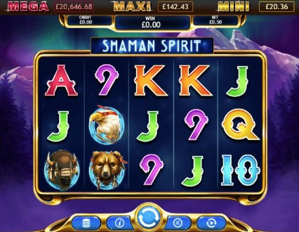 Shaman Spirit Jackpot UK slot game