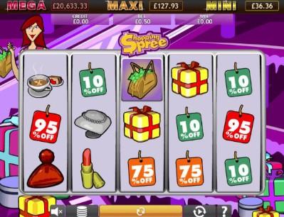Shopping Spree Jackpot UK slot game