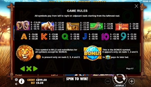 Safari King UK slot game