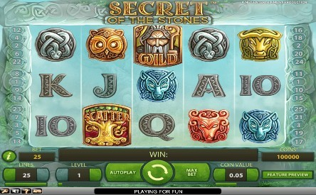 Secret Of The Stones UK slot game