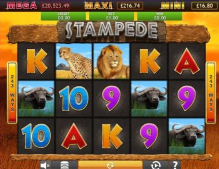 Stampede Jackpot UK slot game