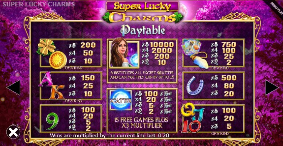 Super Lucky Charms UK slot game