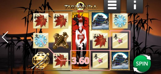 Tanzakura UK slot game