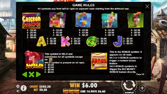 The Great Chicken Escape UK slot game