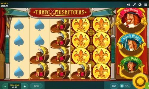 Three Musketeers UK slot game