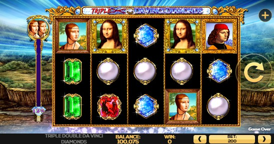 Triple Double Da Vinci Diamonds UK slot game