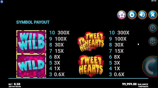 Tweethearts UK slot game