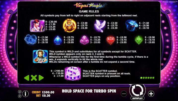 Vegas Magic UK slot game