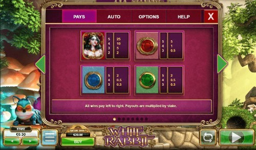 White Rabbit UK slot game