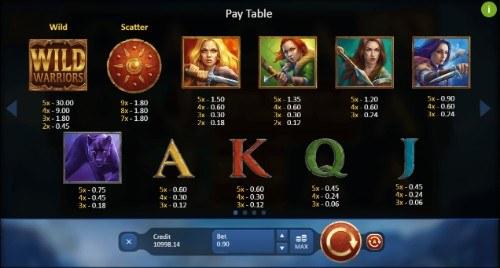 Wild Warriors UK slot game