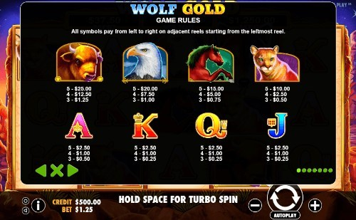 Wolf Gold UK slot game