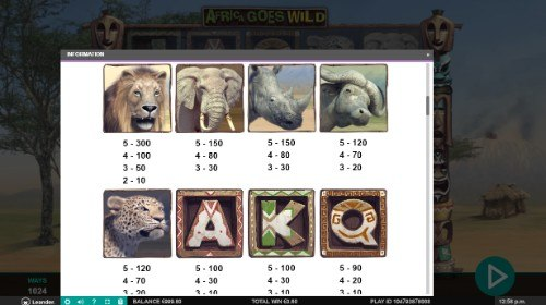 Africa Goes Wild UK slot game