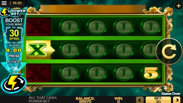 All That Cash Power Bet UK slot game