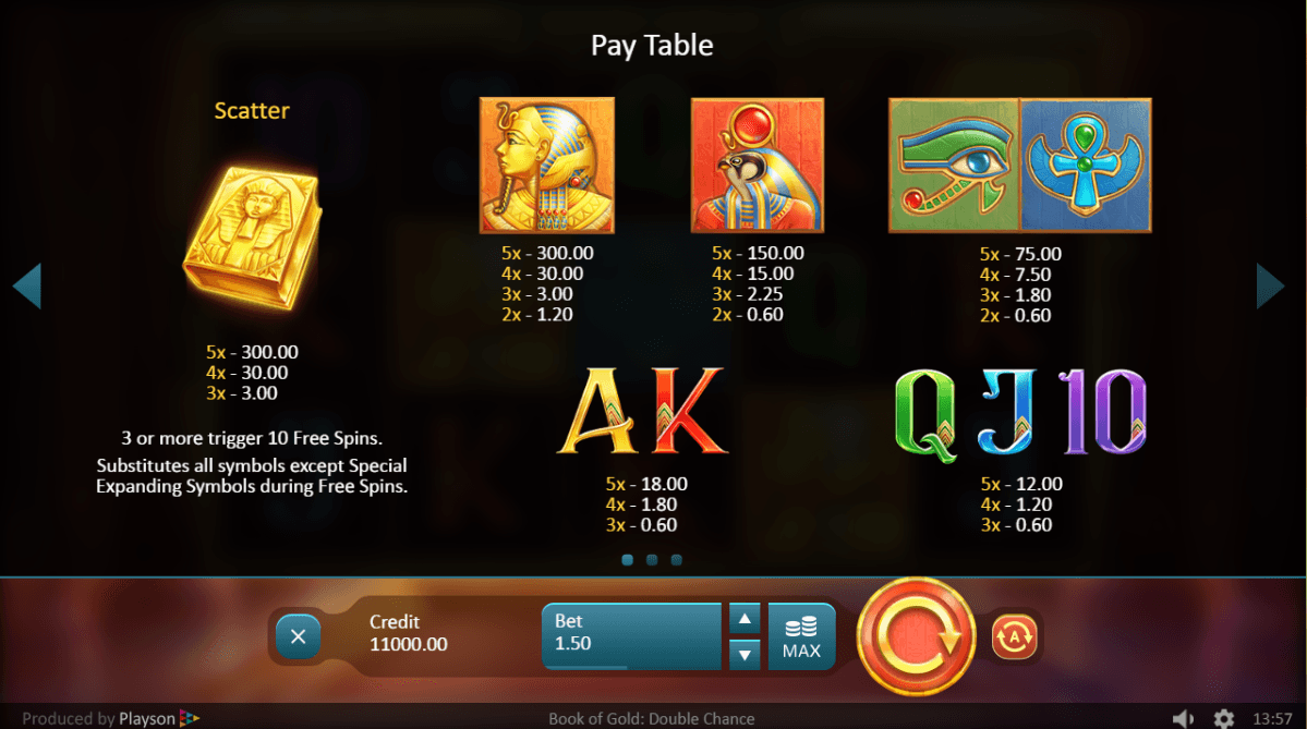 Book of Gold: Double Chance UK slot game