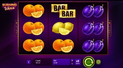 Burning Wins UK slot game