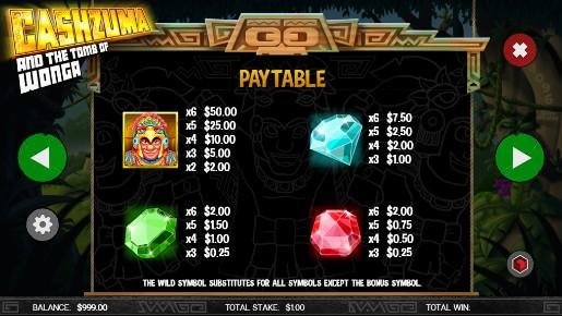 Cashzuma and the Tomb of Wonga UK slot game