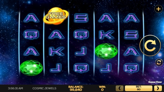 Cosmic Jewels UK slot game