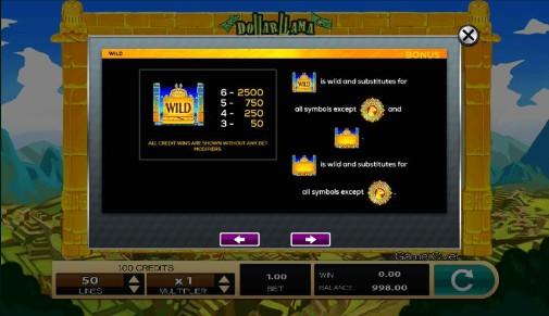 Dollar Llama UK slot game