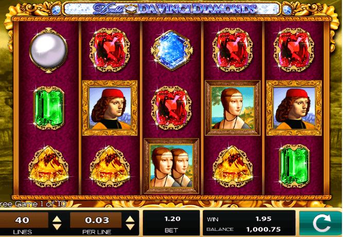 Double Da Vinci Diamonds UK slot game