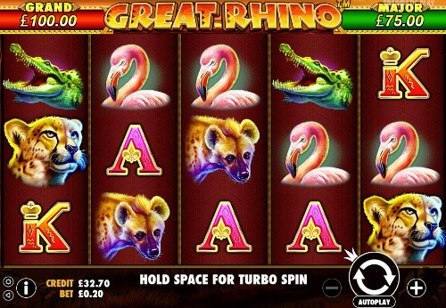 Great Rhino UK slot game