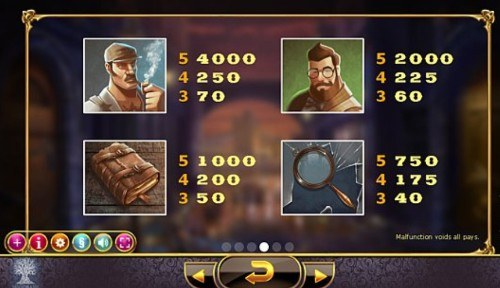 Holmes And The Stolen Stones UK slot game