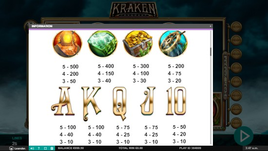 Kraken Conquest UK slot game