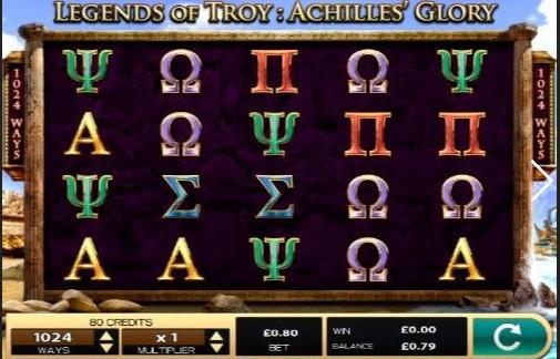 Legends Of Troy 2: Achilles' Glory Slot