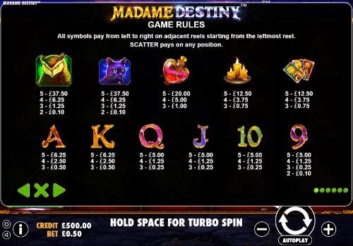 Madame Destiny UK slot game
