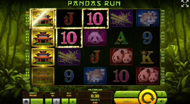 Pandas Run UK slot game