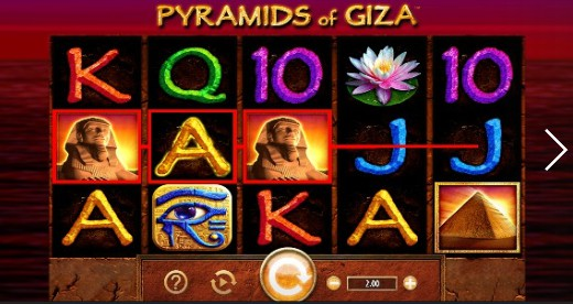 Pyramids of Giza UK slot game