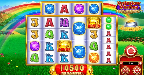 Rainbow Riches Megaways UK slot game
