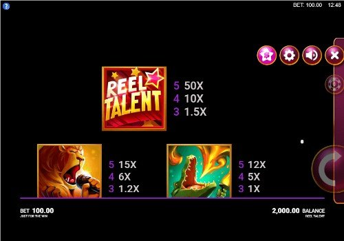 Reel Talent UK slot game