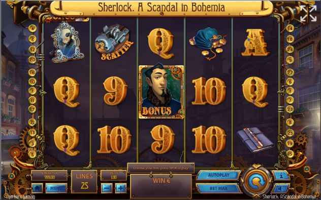Sherlock: A Scandal in Bohemia UK slot game