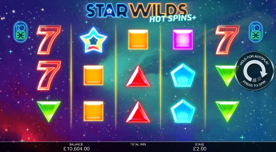 Star Wilds Hot Spins UK slot game
