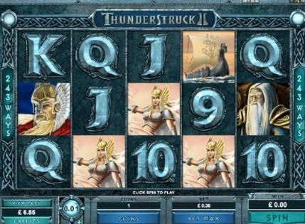 Thunderstruck II UK slot game
