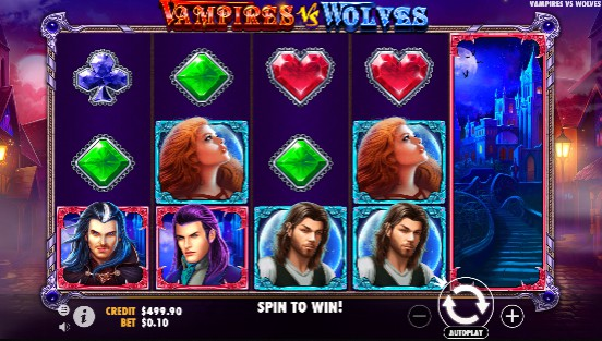 Vampires vs Wolves UK slot game