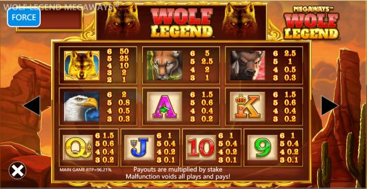 Wolf Legend Megaways UK slot game